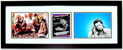 Paul McCartney Signed Beatles 11x14 Photograph Compilation - Beckett Authentication Services BAS COA - Professionally Framed