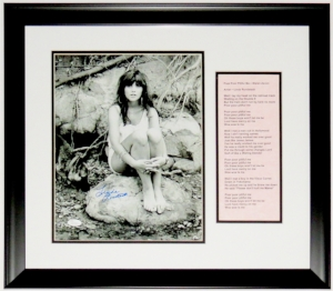 Linda Ronstadt Signed 11x14 Photo and Lyrics - JSA COA Authenticated - Custom Framed
