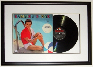 Frankie Avalon Signed Summer Scene Album - PSA DNA COA Authenticated - Professionally Framed & Record