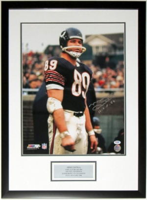 Mike Ditka Signed Chicago Bears 16x20 Photo - PSA DNA COA Authenticated - Professionally Framed