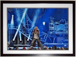 Vince Neil Signed Motley Crue 20x30 Tour Photo - PSA DNA COA Authenticated - Professionally Framed