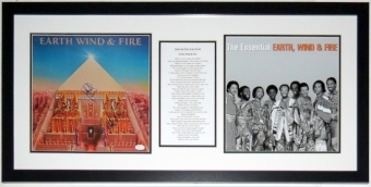 Earth Wind and Fire Group Signed Album Compilation - JSA COA Authenticated  - Professionally Framed 32x20