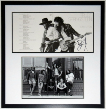 Bruce Springsteen Signed Born to Run Album & E Street Band 11x14 Photo Compilation - Beckett Authentication Services COA - Professionally Framed 32x32