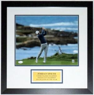 Jordan Spieth Autographed 11x14 Photo - JSA COA Authenticated - Professionally Framed & Plate