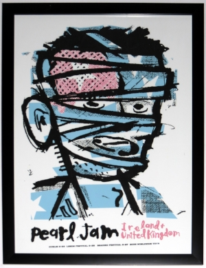 Pearl Jam 2006 Tour Poster by Ames Bros. - Professionally Framed