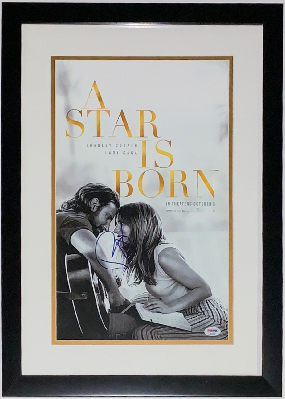 Bradley Cooper Signed A Star is Born Movie Premier Poster - PSA DNA COA Authenticated - Professionally Framed