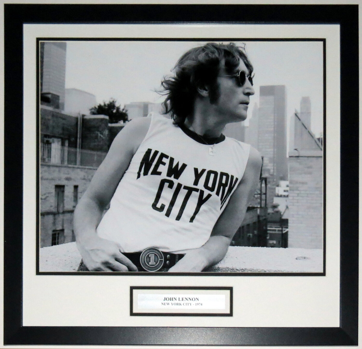 Bleachers Sports Music Framing John Lennon New York City The Beatles 16x20 Photo Professionally Framed