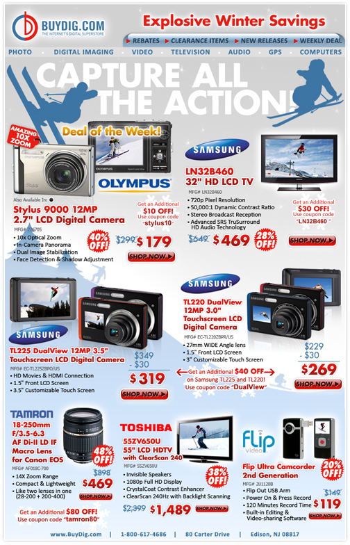 BuyDig.com Winter Savings E-mail Blast