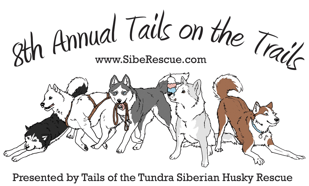 8th Annual Tails on the Trails Hike Logo