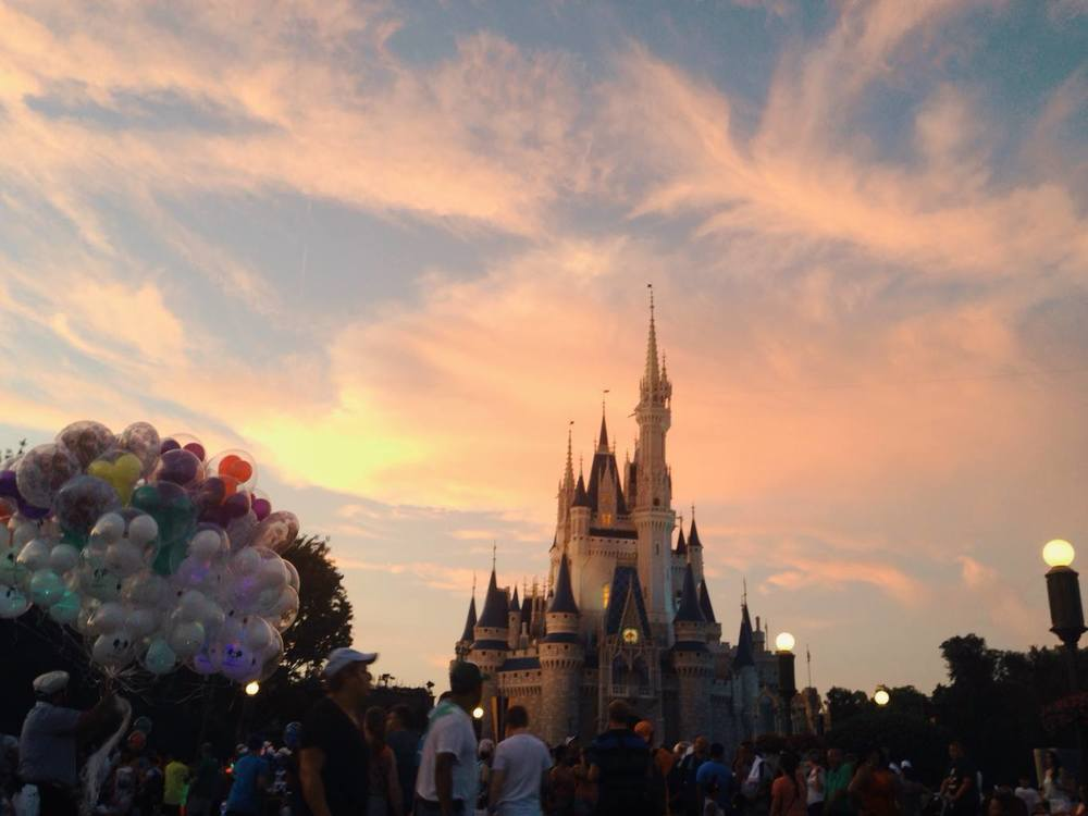 Magic Kingdom at Sunset