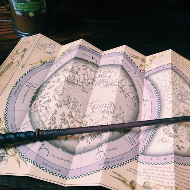 Ollivanders Wand and Map
