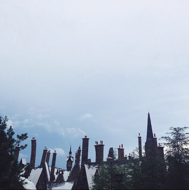 Hogsmeade - smoke came from the chimneys!