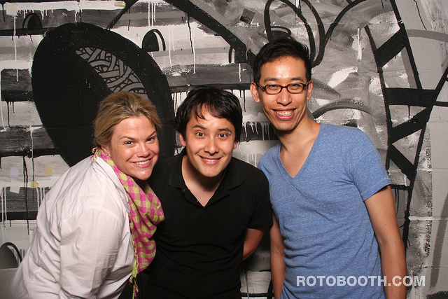 Founding trustees of Awesome Foundation NYC back in 2011: Catherine White, Jesse Chan Norris, and Foossa's Lee-Sean Huang