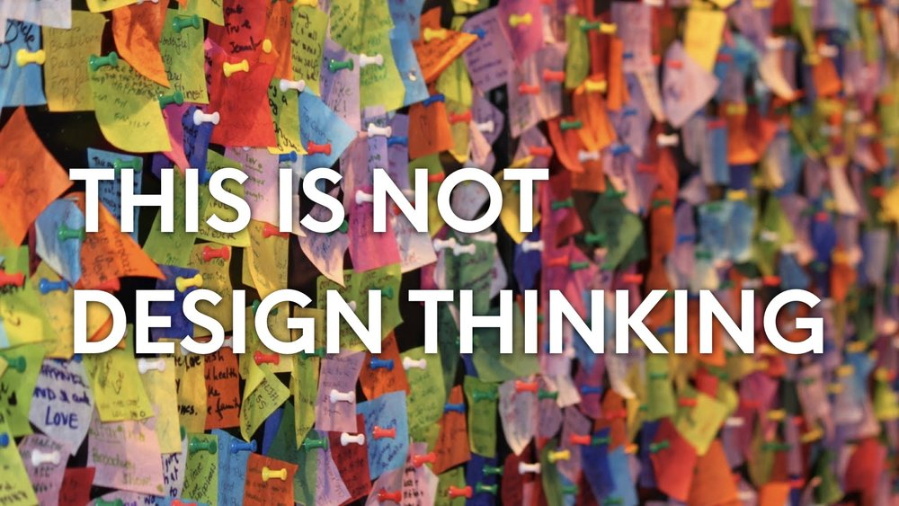Post-Its are not Design Thinking, just a tool of Design Thinking. Just as Adobe Photoshop or Illustrator are not graphic design.