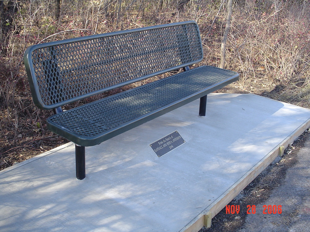 Anderson Bench at Great Plains Nature Center