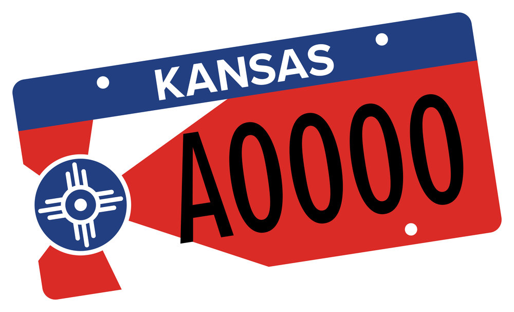 Artwork for the new license plate that will benefit the Wichita Parks Foundation.