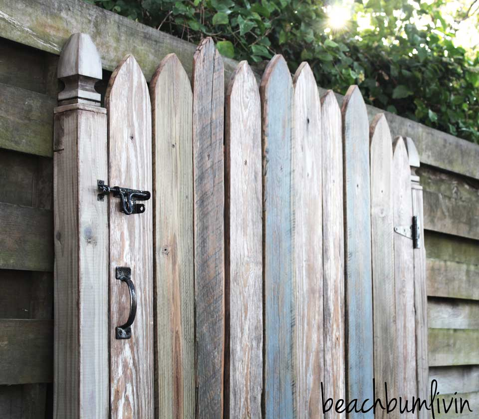 Barnwood Headboard made to look like a picket fence gate