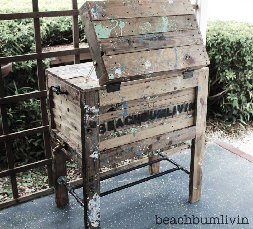 Rustic Cooler Box made from Pallets
