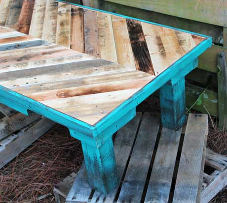 Pallet Wood Coffee Table Painted with Annie Sloan Chalk Paint