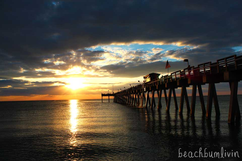 Sunset at Venice Florida Pier