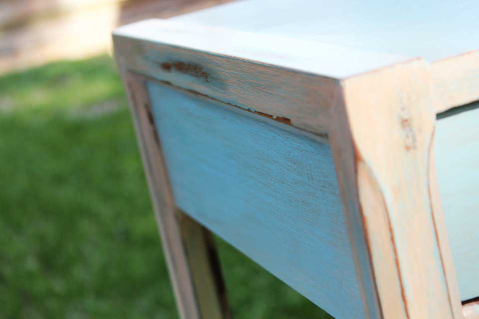 Close up of the painted furniture by beachbumlivin