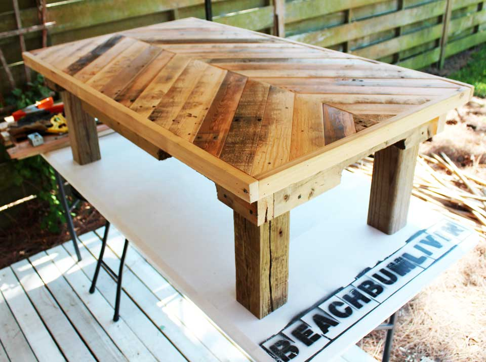 original pallet wood coffee table — beachbumlivin | awesome diy