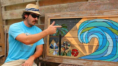 Recycled Pallet Wood Art - beachbumlivin
