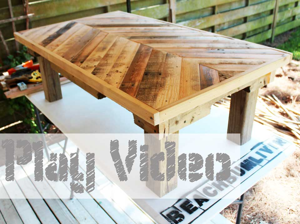 original pallet wood coffee table info - Wood Pallet Projects