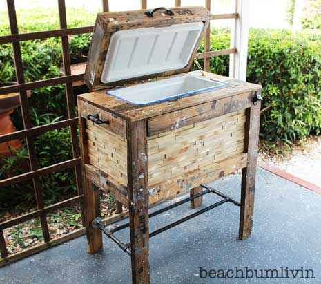Rustic Cooler Box From Recycled Pallets Beachbumlivin Awesome Diy Furniture Project Ideas