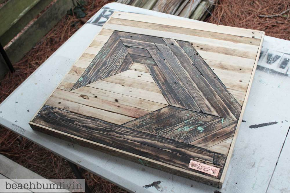Recycled pallet wood art futuristic wave beachbumlivin Reusable wood