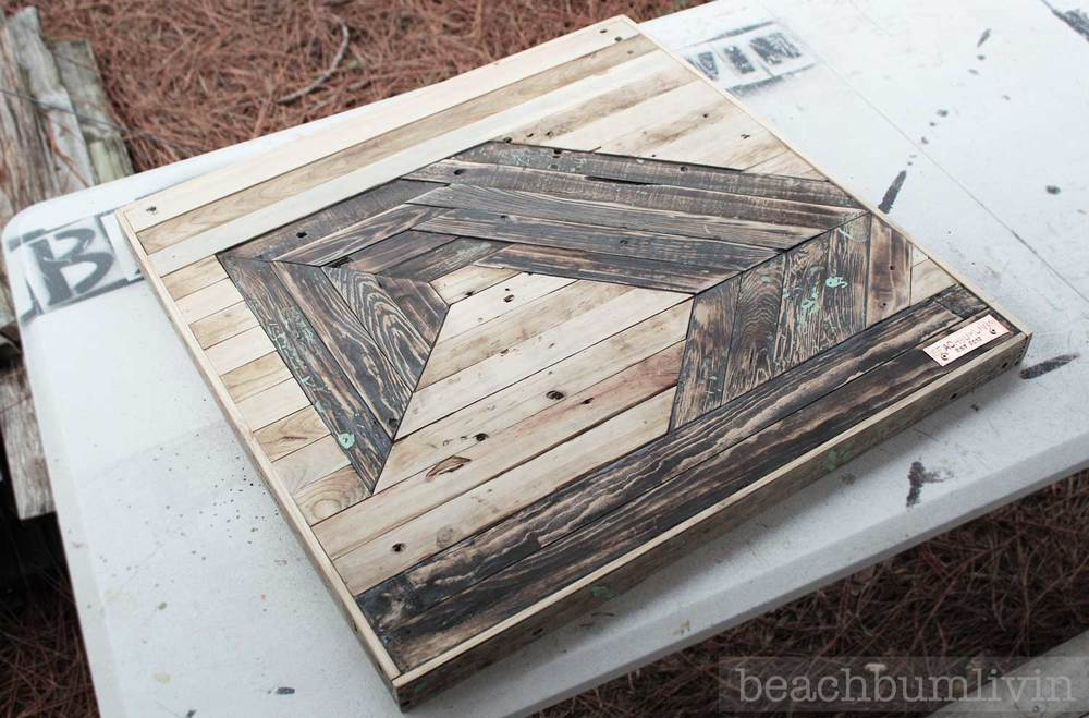 Recycled pallet wood art beachbumlivin
