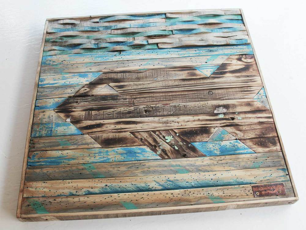 Beachbumlivin recycled pallet wood fish art.