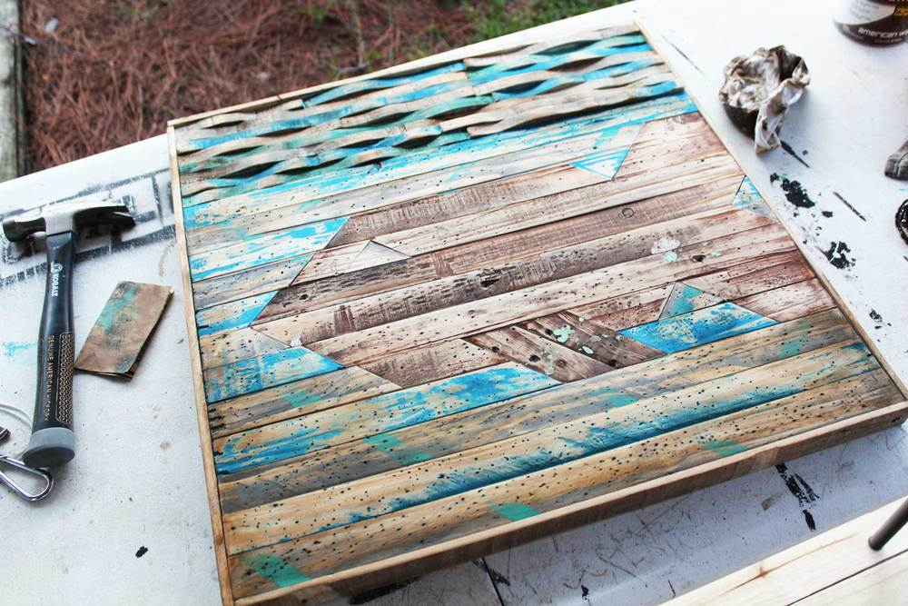 39 Fishy 39 Recycled Pallet Wood Art Beachbumlivin