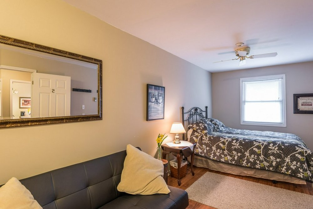 The Kearney Suite - The Kearney RoomOffers a queen bed with pullout love-seat and private 3 piece en suite bathroom. Includes fridge, coffee maker, smart TV and air conditioner.Cost: $110.00 / per night plus applicable taxes. Based on double occupancy. Additional person charge of $20.00 plus applicable taxes
