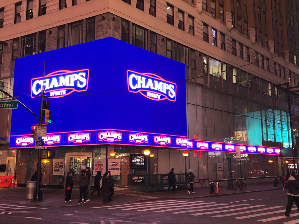 Modern Displays at Historic 10 Times Square