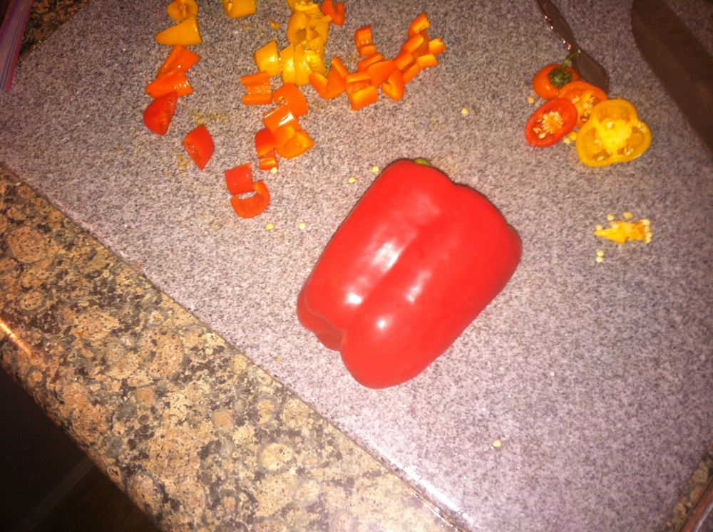 1 large red bell pepper