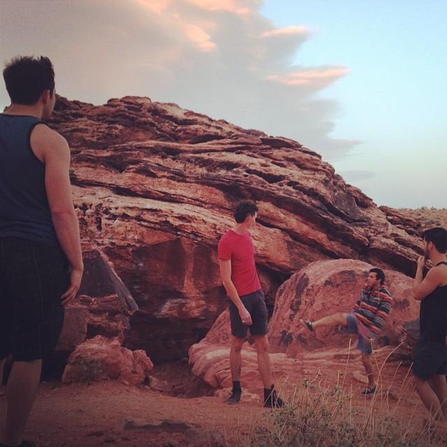 Desert sacking in Las Vegas. #ratsack #footbag #lasvegas #hackysack