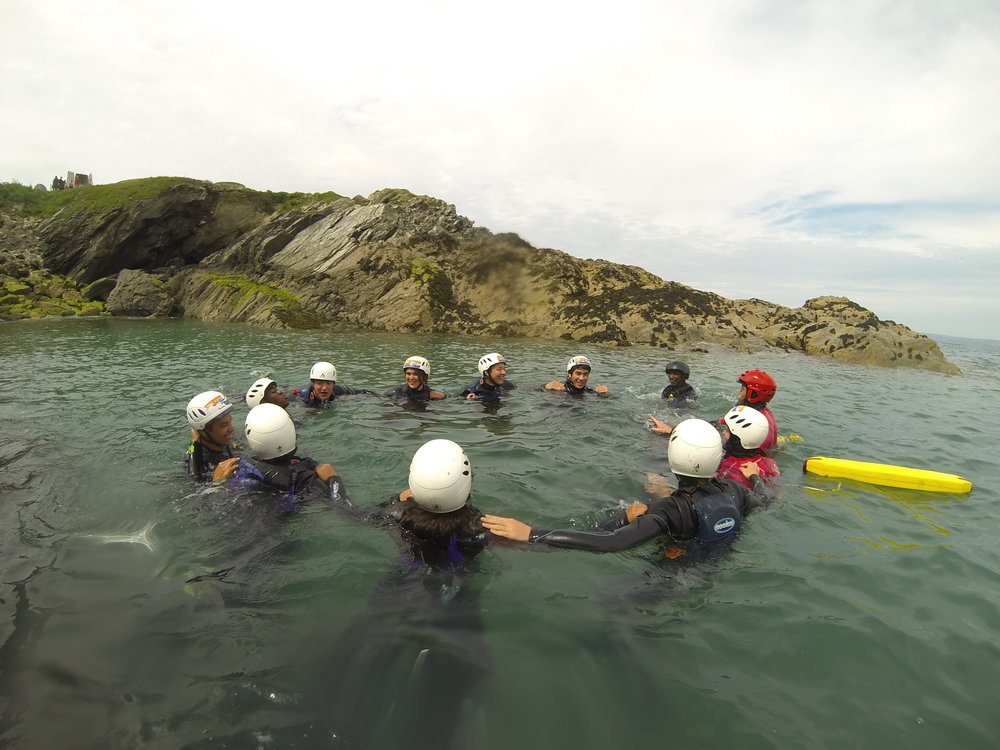 Create trusting relationships through outdoor activiies @firstwaveadventures in Cornwall