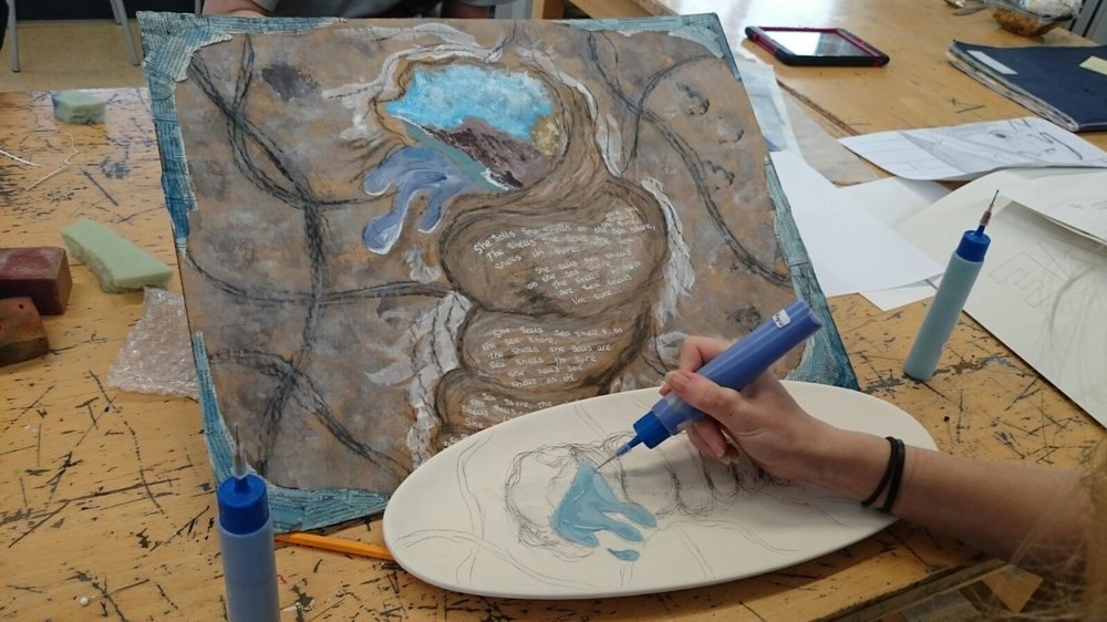 Poetry, Painting and Ceramics inspired from a First Wave Artventure