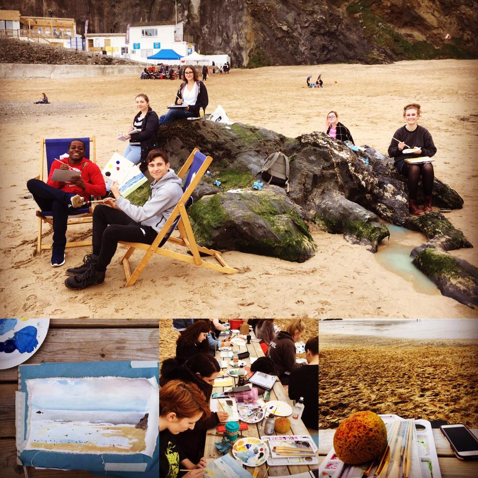Beach BBQ Painting Session at Great Western Beach