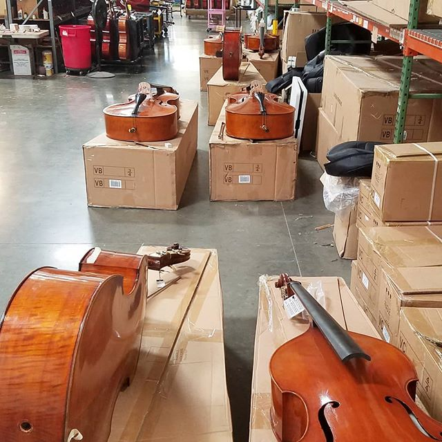 Checking basses @eastmanstrings.  Thanks Ping.