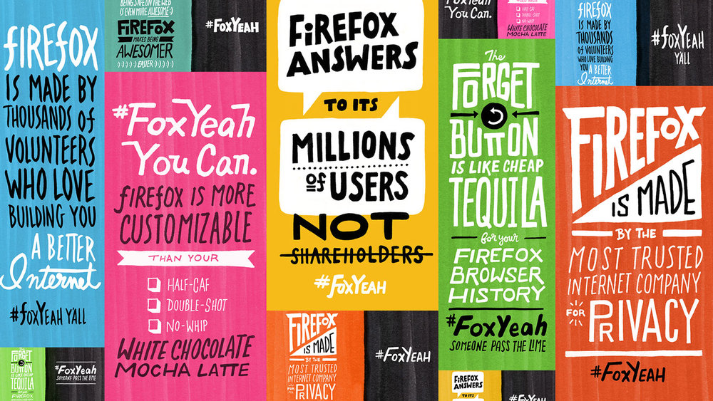 #FoxYeah Campaign Typography // Mozilla Firefox
