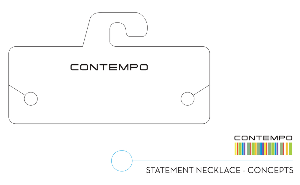 Option 3: Flat card with duel-slits for Statement Necklace