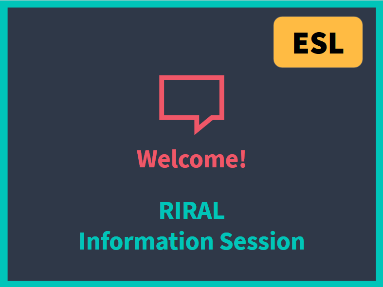 Registration - Info Session (ESL)