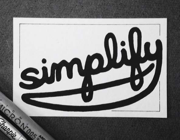 Simplify -  Hand drawn type by Matt Shirley