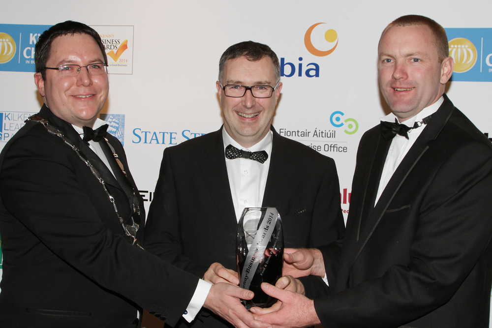 Willo Deevy receives Kilkenny Business Award