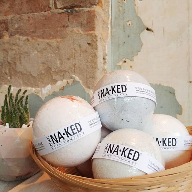 No plans tonight, that's okay! Pick up one of these bath bombs from @bucknakedsoapcompany and #getyoursudson 🛁💦#shoplocal #bloorwest #northwoodgeneral #bathbomb #veganbeauty