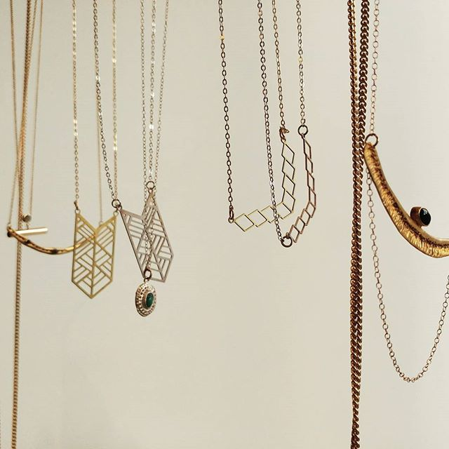 Beautifully designed necklaces from @frugjewellery and @bauxo 💎 #northwoodgeneral #shoplocal #bloorwest #necklace #treatyourself