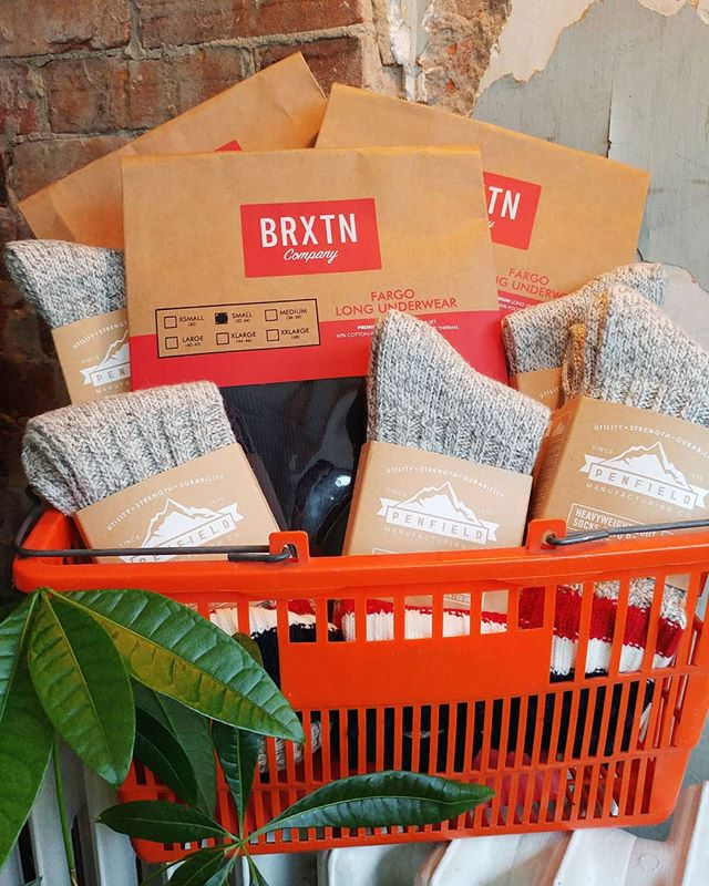 Winter is coming! Warm up with this @brixton long underwear set and @penfieldusa socks ☃️🌨️ #northwoodgeneral #shoplocal #bloorwest #winter #staywarm