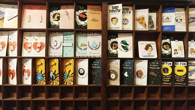 Step up your pin game and pick up a few goodies from amazing artists/collectives! @nofunpress @stayhomeclubofficial @nessleee @rosehoundapparel @shopjustvisiting @badaboomprintshop @squid_lords @sadtruthsupply @ladynobrow  #shoplocal #northwoodgeneral #bloorwest #pingamestrong #supportlocalartists